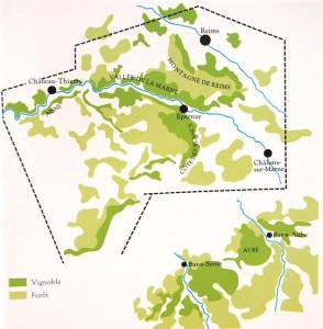 carte <H2>champagne</H2> - <H2>Côte des Blancs</H2>