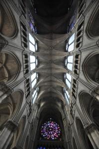 Nef centrale de la Cathédrale Notre-Dame de Reims - Arcs et voûtes
