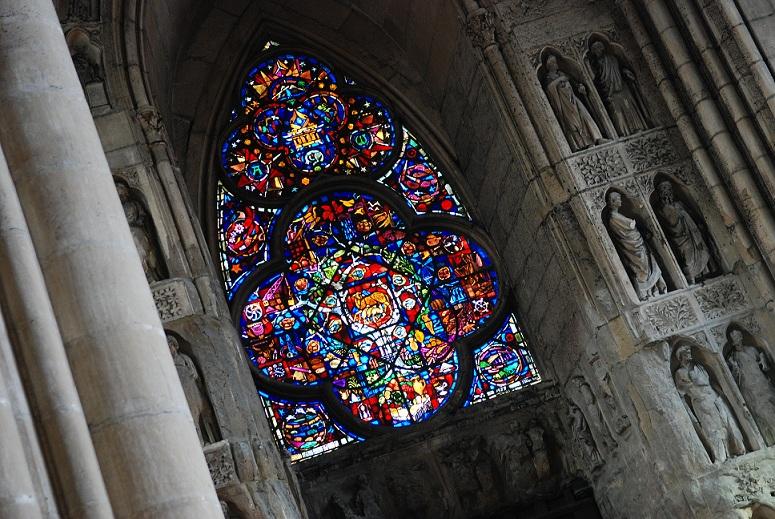 Vitraux et sculptures de la Cathédrale Notre-Dame de Reims