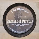 Pancarte Emmanuel Pithois à Verzenay dans la Montagne de Reims en Champagne