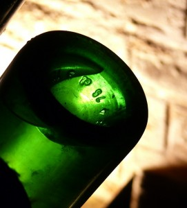 bouteille sur pupitre