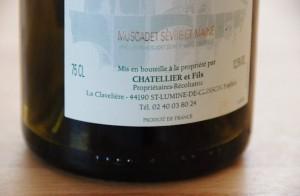 Muscadet de Sèvre et Maine - Clisson 2009 - Domaine Chatellier et Fils