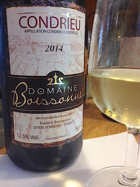 condrieu 2014 - Domaine Boissonnet